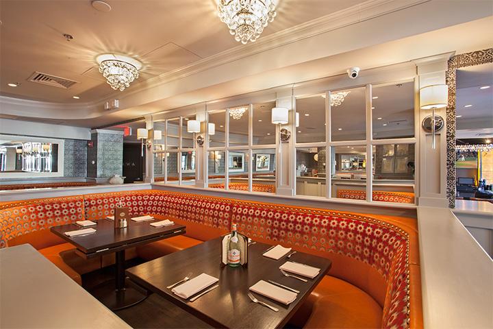Banquette restaurant booth